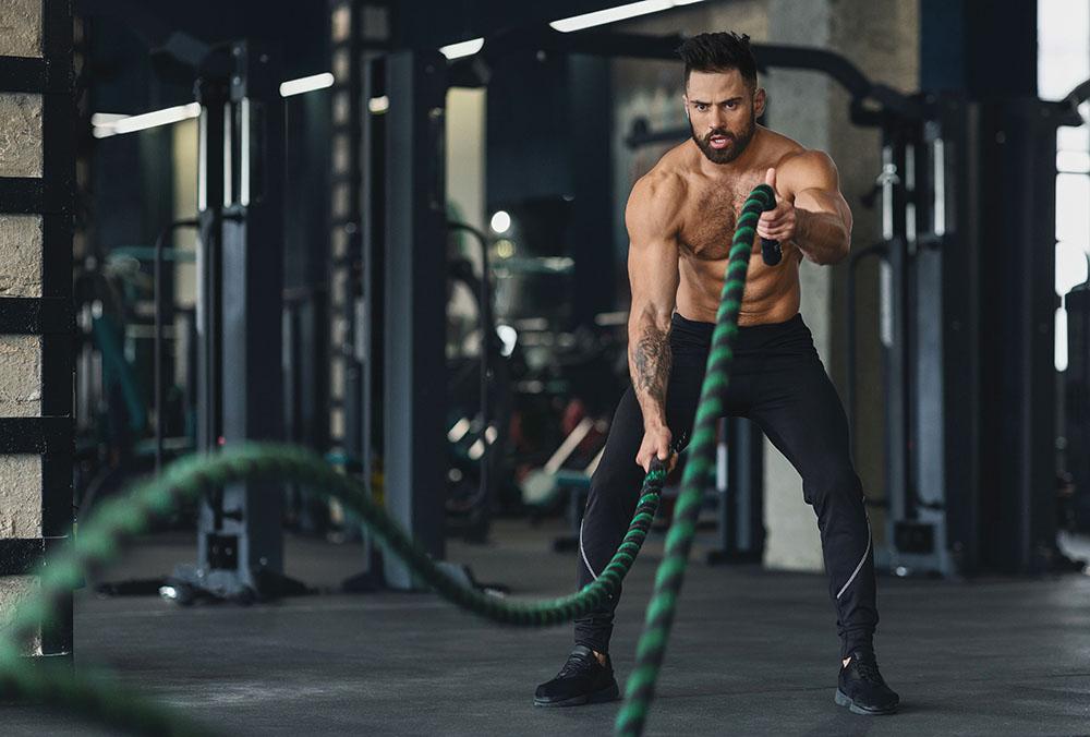 Do battle ropes work chest?