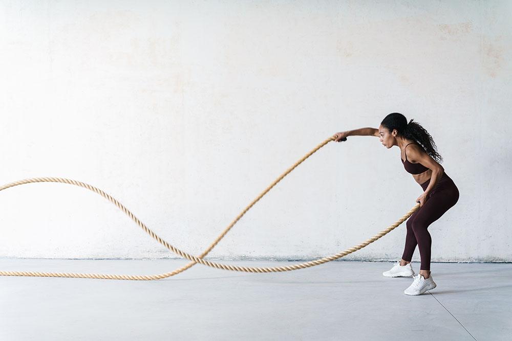 Battle ropes vs running