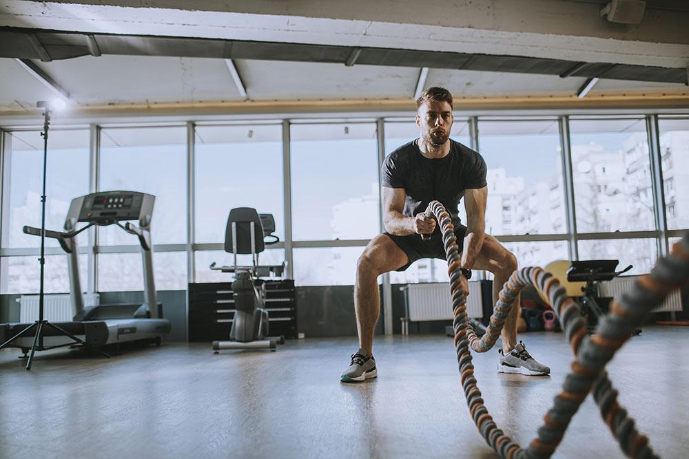 Do battle ropes work legs?
